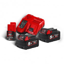Pack batteries et chargeur MILWAUKEE M18NRG