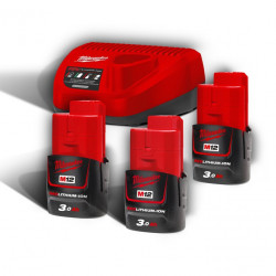 Pack batteries et chargeur MILWAUKEE M12NRG